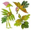 Идеи для аппликаций из листьев