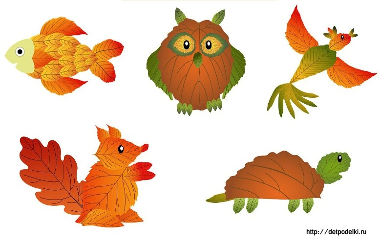 Золотая осень картинки из листьев
