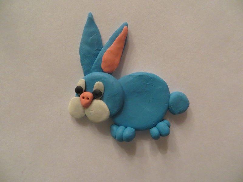 Лепим веселого зайчика из пластилина: пошаговый мастер-класс с фото