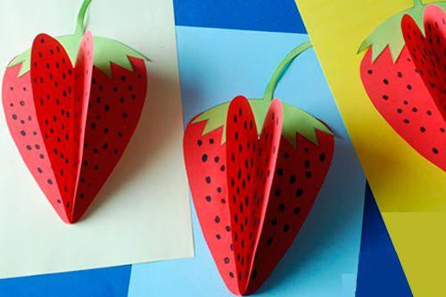 Объемные фрукты из бумаги - варианты аппликации для детей из цветной бумаги