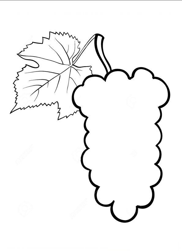 Объемный виноград из бумаги: аппликация