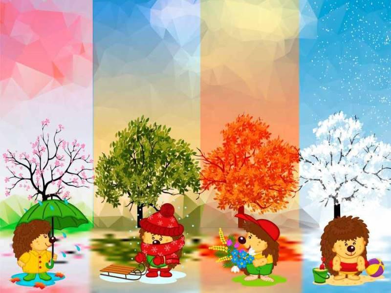 Загадки про времена года для детского сада и школы