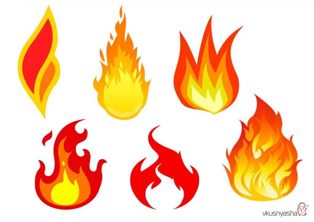 Аппликации к 9 мая для детей, шаблоны, огонь
