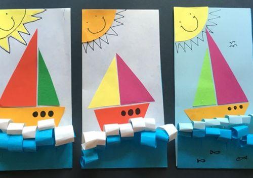 Объемная аппликация Кораблик для детей