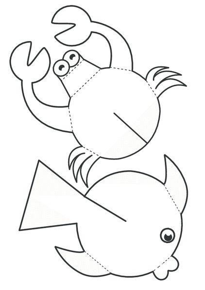 """Летняя аппликация """"Обитатели морских глубин"""""""