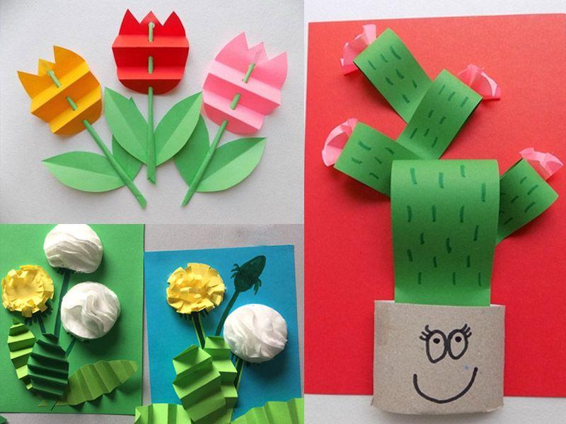 Объемная аппликация: цветы из бумаги - 3 пошаговых мастер-класса с фото