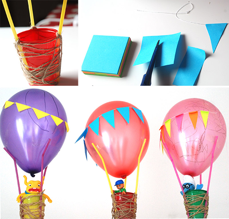 Воздушный шар из стаканчика и шарика