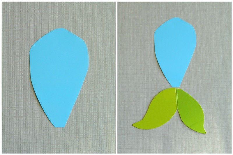 Аппликация из цветной бумаги русалочка 4
