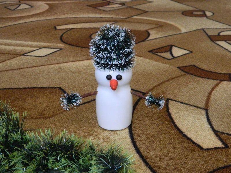 Снеговик из бутылочки