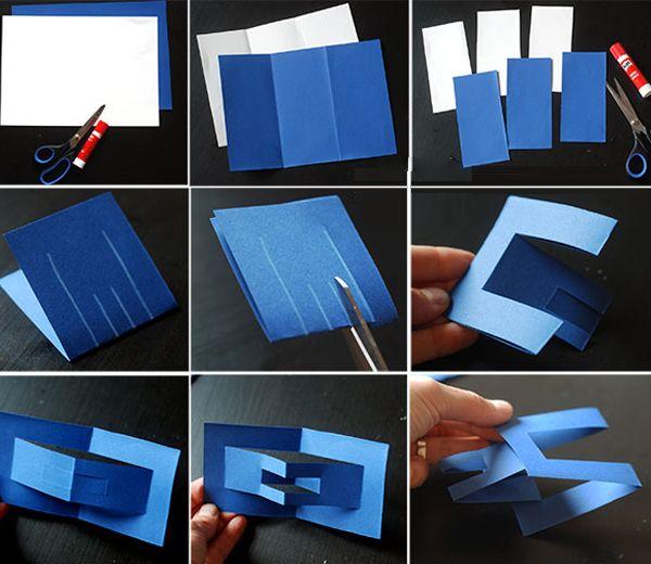 Интересная бумажная снежинка из модулей