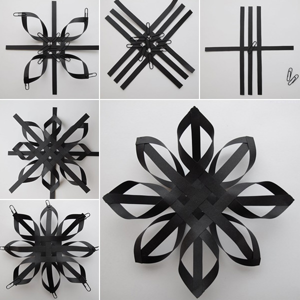 Интересные идеи объемных снежинок из бумаги