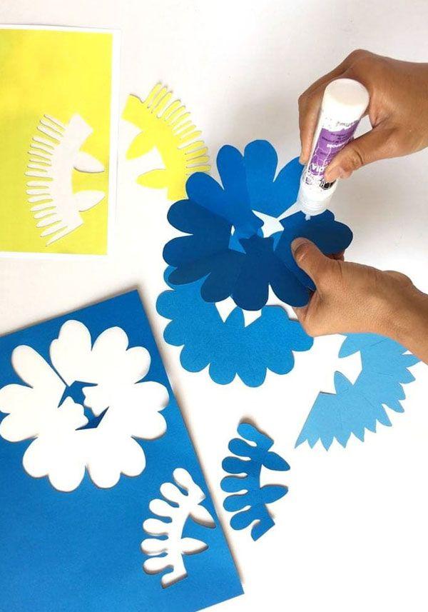 Объемная открытка с цветком для мамы