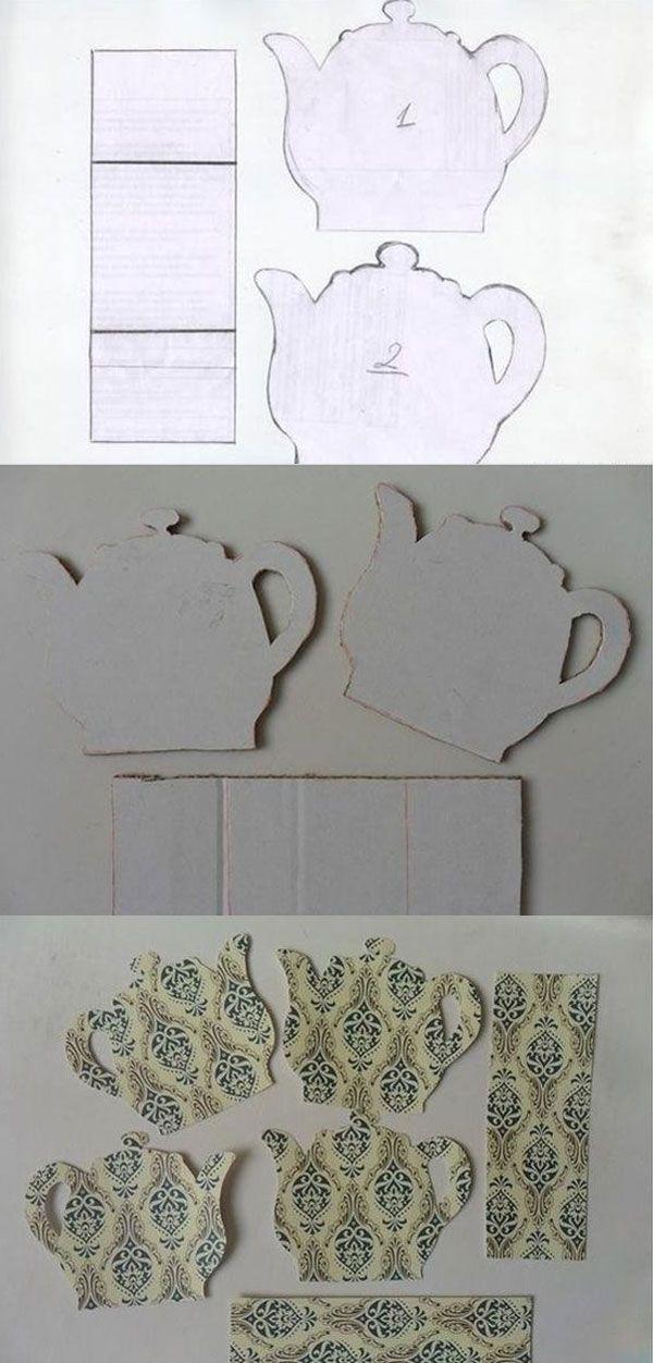 Интересная поделка - подставка для чайных пакетиков