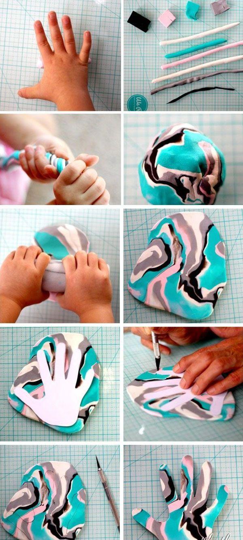 Подставка для украшений из полимерной глины