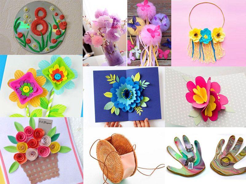 Поделки на 8 марта своими руками для мамы: идеи для детей