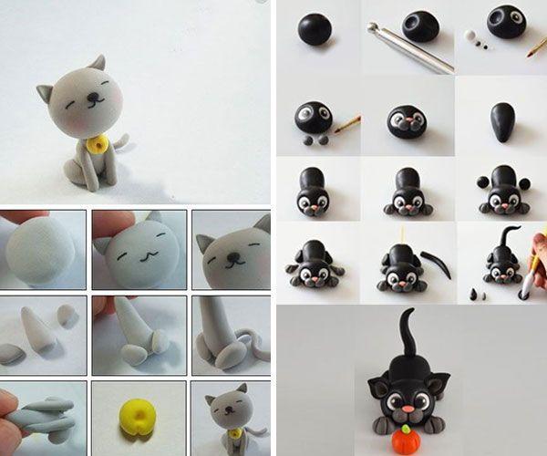 Как слепить кота из пластилина или полимерной глины: примеры, идеи, мастер-классы