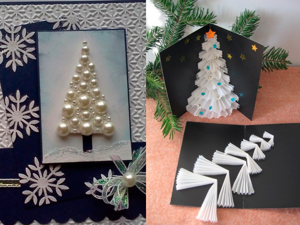 Как сделать объемную открытку с Рождеством