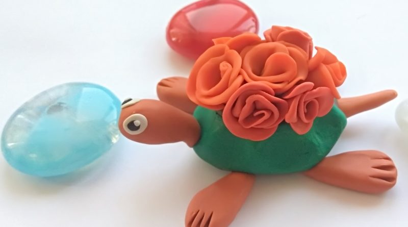 Лепим черепаху из пластилина