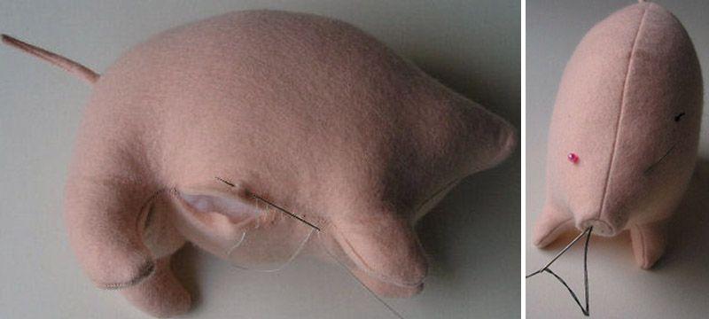 Поросенок - мягкая игрушка своими руками + выкройка