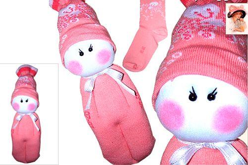 Мягкая игрушка Малыш из носка