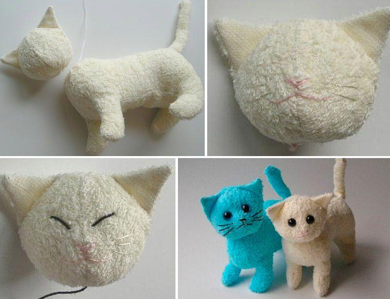 Мягкая игрушка котенок своими руками