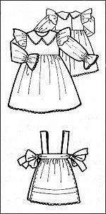 Платье с фартуком для куклы