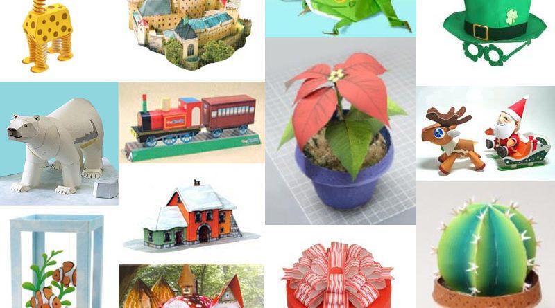 3Д поделки из бумаги: животные, дома, цветы, оригами и предметы