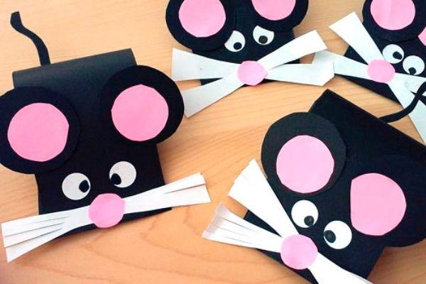 """Поделка """"Мышка из бумаги"""""""