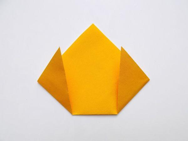 Оригами - зайчик схема пошаговая