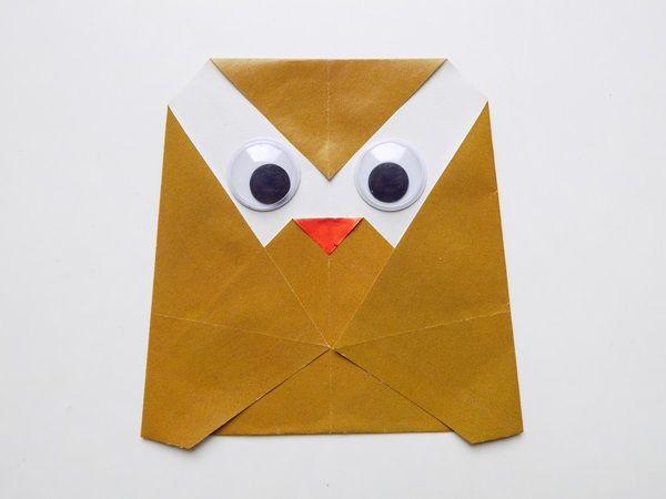 Оригами сова схема с фото инструкцией