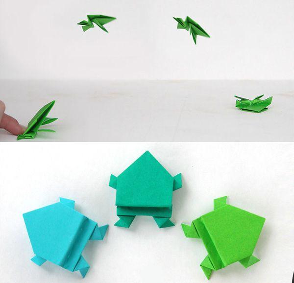 Оригами-лягушка