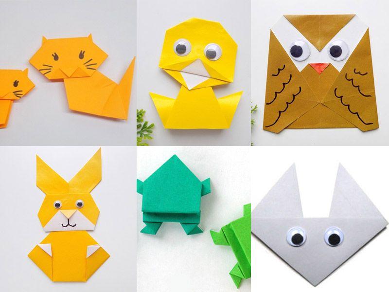 Животные оригами для детей от 5 лет: пошаговые схемы зайчика, совы, утенка, лягушки
