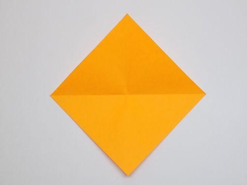 Оригами из бумаги котенок