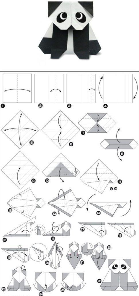 Схема оригами коала для детей