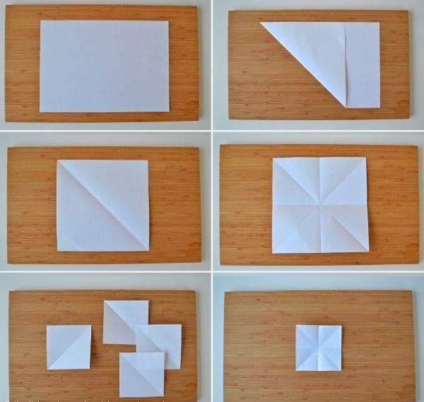 Схема пошаговая бабочка оригами