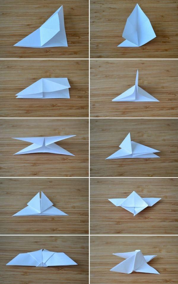 Схема бабочка оригами