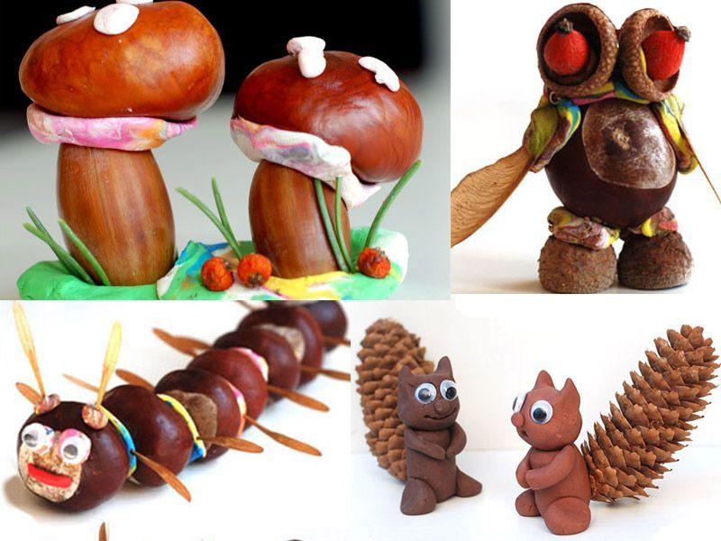6 идей для детских поделок из природных материалов