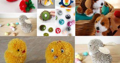 Поделки из помпонов: интересные игрушки своими руками для детей