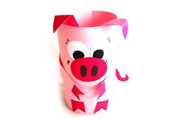 Свинья из бумаги в технике оригами
