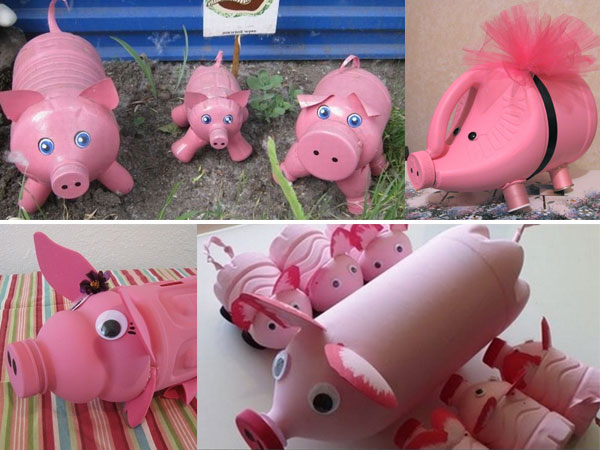 Объемная свинка: идеи для поделок в школу и детский сад