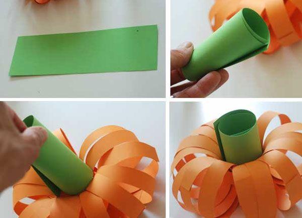 Простая тыква из бумаги