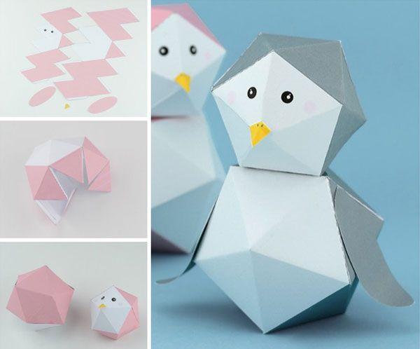 Как сделать пингвина из бумаги - инструкция