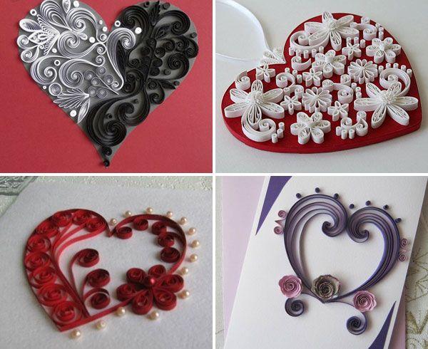 Объемные открытки ко Дню Влюбленных 14 февраля