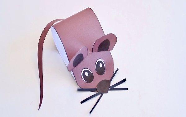 Поделка мышка из картона простая