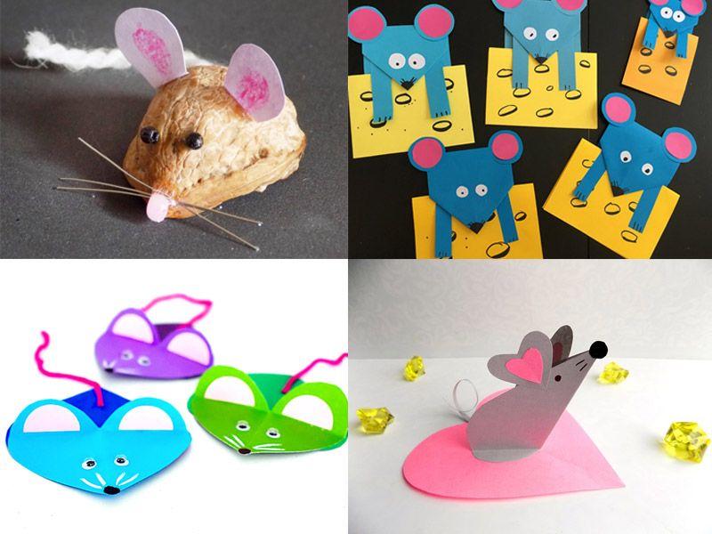 Поделка мышка своими руками: простые варианты из бумаги и картона