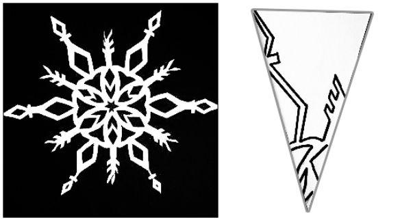 Шаблоны снежинок для вырезания к Новому году