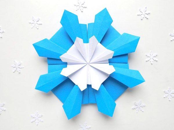 Объемная снежинка из модулей