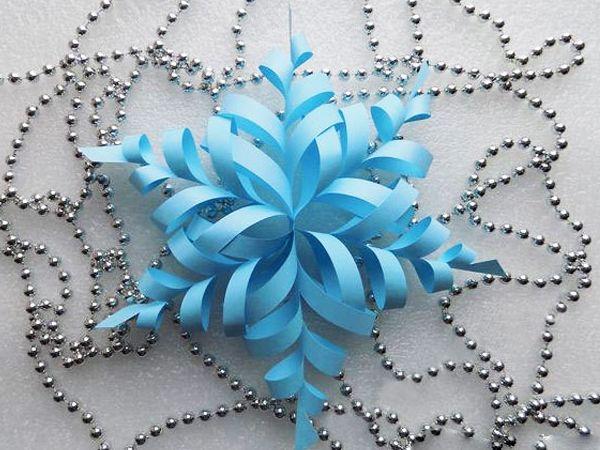 Ажурная 3d снежинка из бумажных модулей
