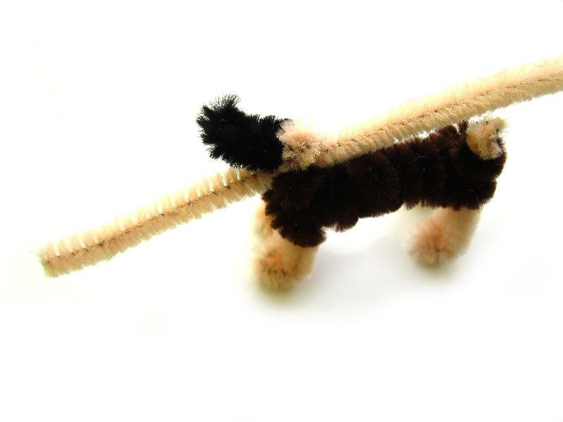 Собака из пушистой проволоки