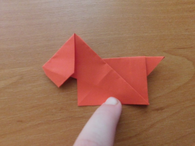 Собачка оригами схема для детей: пошаговая инструкция